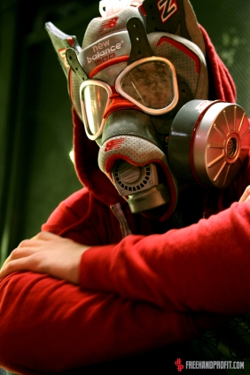 Gas Mask made from New Balance X Nice Kicks 1500