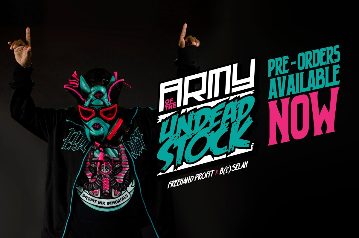 "0f93106d54b39b Pre-Orders now available for ""Army of the Undeadstock"" + South Beach 8 Gas  Mask revealed! – THE BLOG   FREEHANDPROFIT.com"