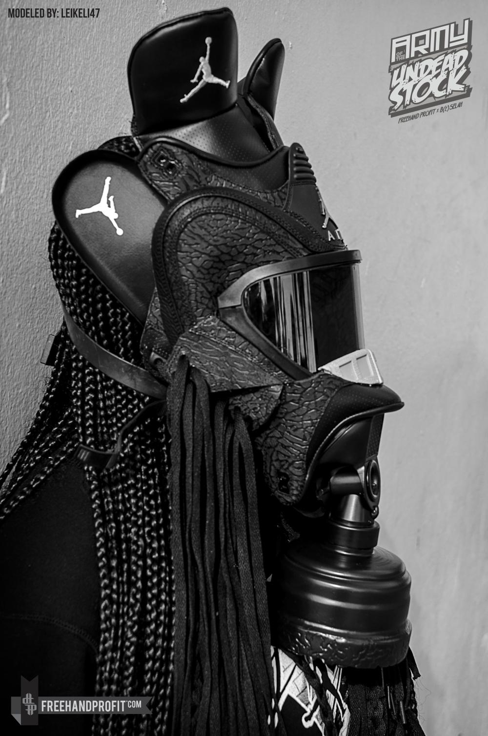 Black Flip 3 Jordan Gas Mask