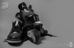 Black Flip 3 Jordan Gas Mask