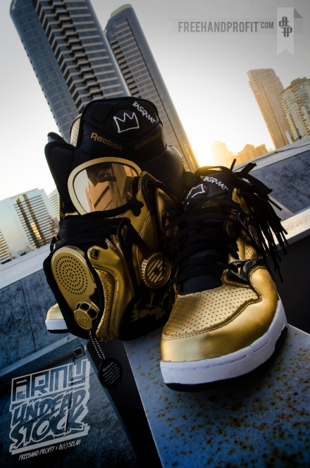 Reebok Omni Pump Lite 'Basquiat' Gas Mask by Freehand Profit