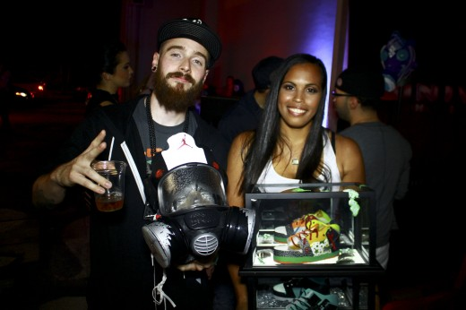 Freehand Profit and fellow sneaker artist @jboogs317 at Art Basel 2012