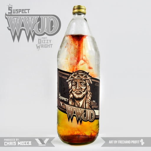 "Art for Suspect's newest single ""WWJD"" feat. Dizzy Wright"