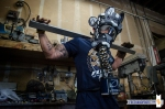 "Burn Rubber x New Balance MT580 ""Blue Collar"" Gas Mask by Freeha"