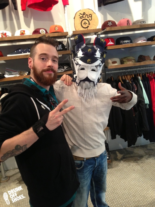 Meeting folks at SubV, some were even allowed to try on the Olympic 180 mask