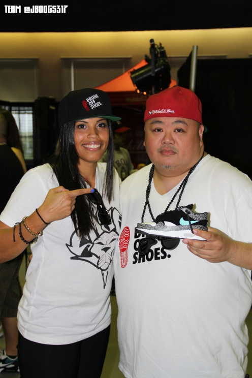 Jenny & DJ Quest with his paper Atmos AM1
