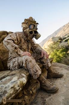USMC Combat Book Gas Mask