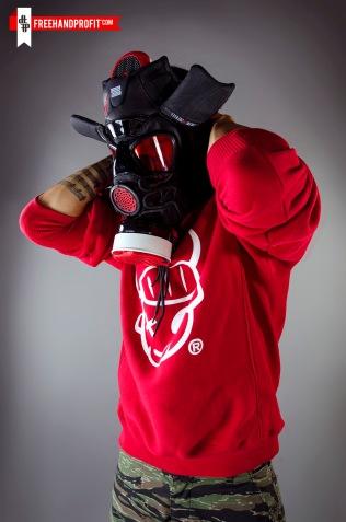 """Bred"" Jordan XI (11) Gas Mask by Freehand Profit"
