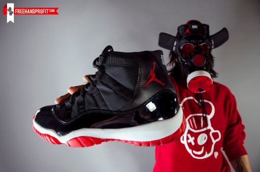 """Bred"" Jordan XI (11) Gas Mask by Freehand Profit"