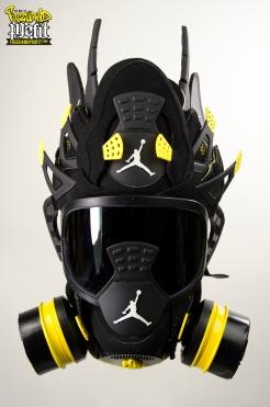 "Air Jordan ""Thunder IVs"" Gas Mask by Freehand Profit"