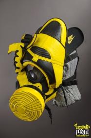 "Nike Dunks ""Black & Maize"" Gas Mask by Freehand Profit"