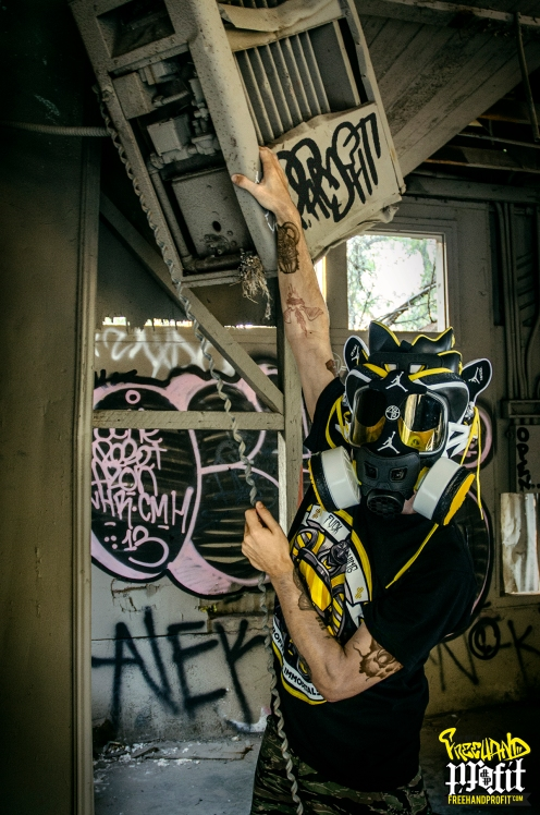 """Spizike Nike iD """"Taxi'Zikes"""" Gas Mask by Freehand Profit"""