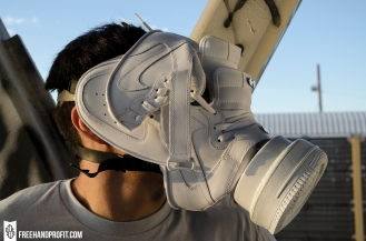 "All White ""Air Force 1s"" Gas Mask by Freehand Profit"