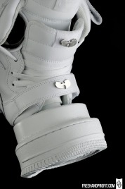 """All White """"Air Force 1s"""" Gas Mask by Freehand Profit"""