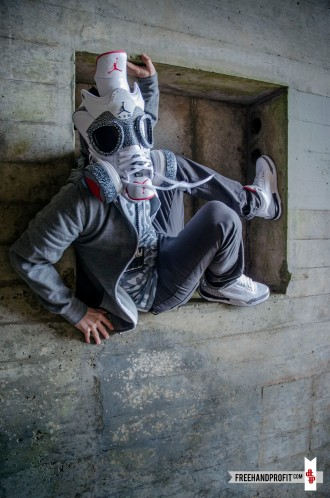 White Cement III Gas Mask by Freehand Profit