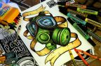 MASK365 Rewind: 3 Years Ago – Coloring Book Gas Mask