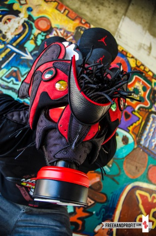 "Air Jordan XIII ""Bred"" Gas Mask by Freehand Profit"
