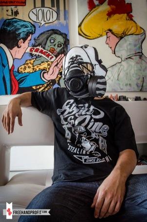"Air Jordan X ""Steel"" Gas Mask by Freehand Profit"