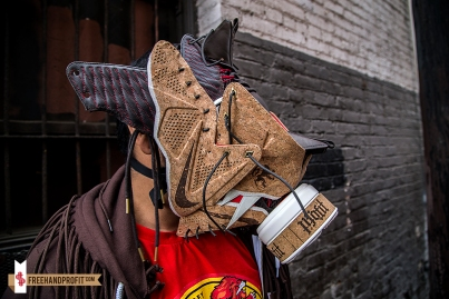 Nike Lebron X (10) Cork Gas Mask by Freehand Profit