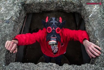 "Air Jordan VI (6) ""Black Infrared"" Gas Mask by Freehand Profit"