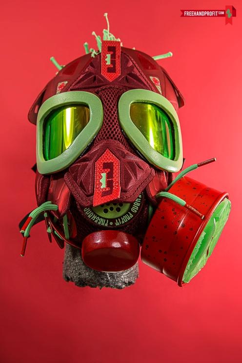 "Nike Lebron X (10) ""Christmas"" Gas Mask by Freehand Profit"