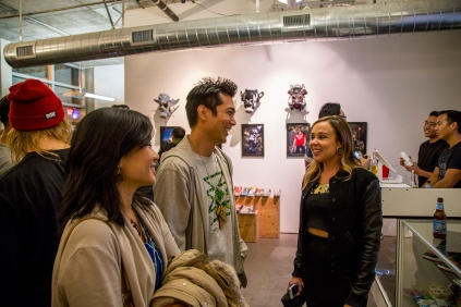 "@char_l_ton and his wife Janice talking with fellow ""Fresh to Death"" artist @marsartist"
