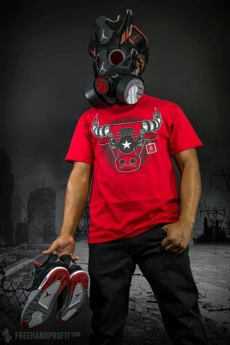 "Jordan IV (4) ""Black Cement"" Gas Mask"