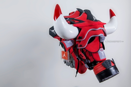 "Air Jordan ""Toro IVs"" Gas Mask by Freehand Profit"