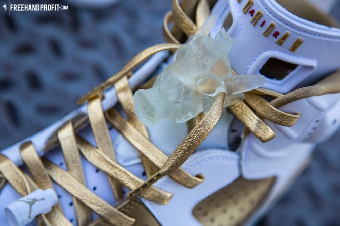 "Custom Air Jordans ""Midas 6s"" by Freehand Profit"