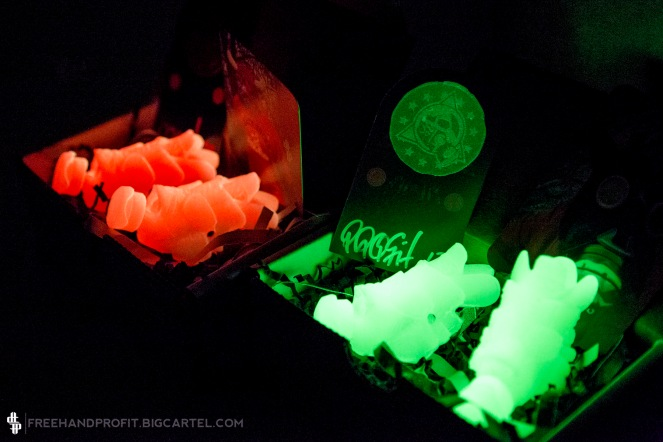 Both the Solar Glow and Green Glow, well, they GLOW in the dark.