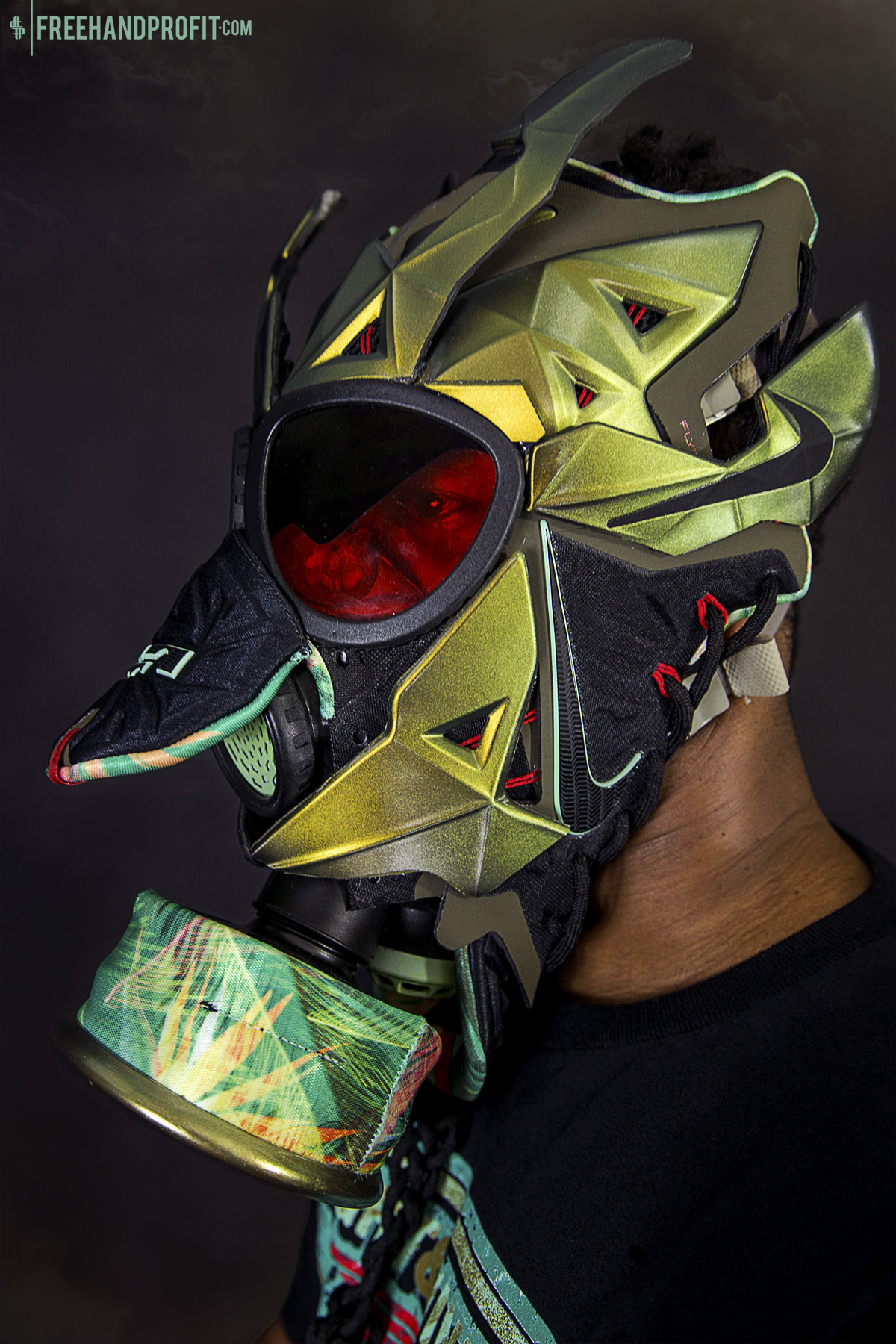 """the latest 17e3a 89855 ... Lebron 11 (XI) """"Kings Pride"""" Mask by Freehand Profit   THE ."""