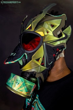 "Lebron 11 (XI) ""Kings Pride"" Mask by Freehand Profit"