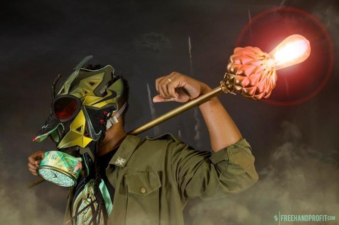 "Lebron 11 (XI) ""Kings Pride"" Mask by Freehand Profit"