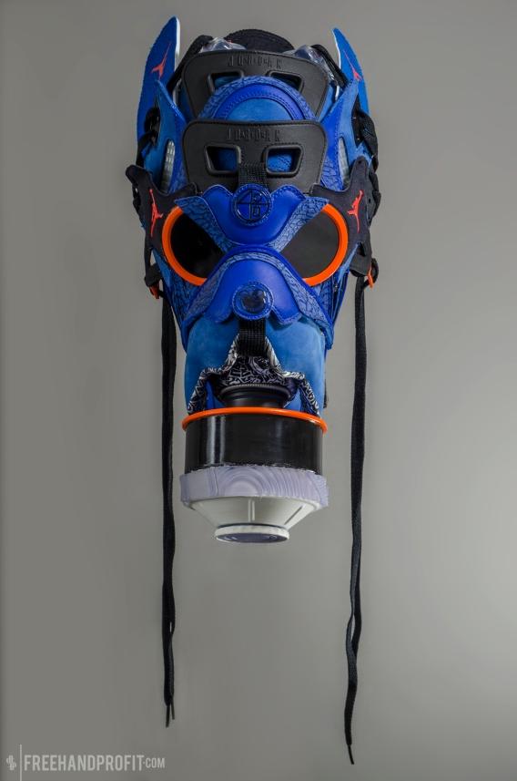 """Jordan Spizike """"Knicks Blue"""" Mask by Freehand Profit"""