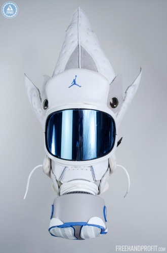 "Air Jordan 13 ""Neutral Grey / University Blue"" Gas Mask by Freeh"