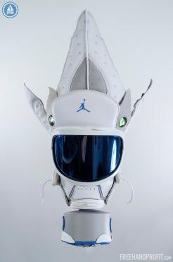 "Air Jordan 13 ""Neutral Grey / University Blue"" Gas Mask by Freeh"