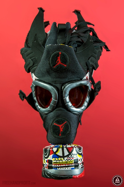 "Air Jordan ""Playoff"" 8 Gas Mask by Freehand Profit"