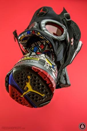 "Air Jordan ""Playoff"" 8 Gas Mask by Freehand Profit"