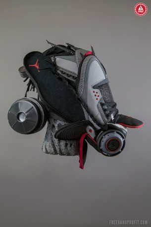 "Air Jordan III (3) ""Stealth"" Gas Mask by Freehand Profit"