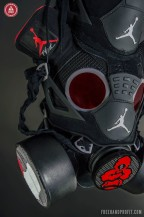"Jordan IV ""Black Cement / Bred"" Gas Mask – The 58th Sneaker Mask by @freehandprofit"