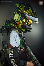 "ASTRO Gaming x Freehand Profit: Master Chief Gaming Helmet made from Lebron XI ""King's Crown"" EXTs"