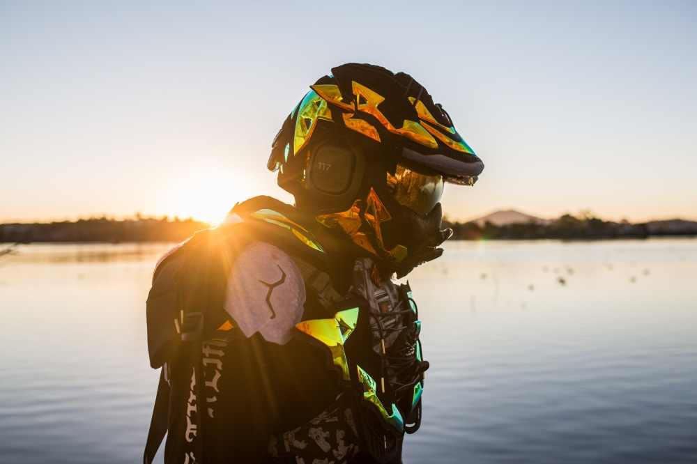 The Freehand Profit x ASTRO Gaming Master Chief Helmet was also shot at Lake Murray in San Diego by ASTRO photographer @OZEnrique. Modeled here by @bryan_jay