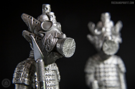 Silver (Metal infused hand cast resin)