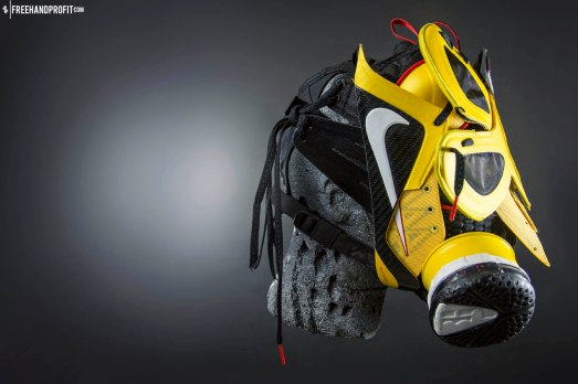 "Lebron 9 Elite ""Taxi"" Gas Mask by Freehand Profit"