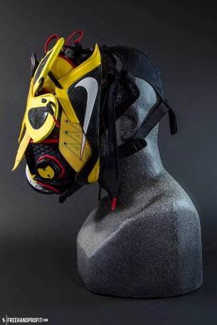 """Lebron 9 Elite """"Taxi"""" Gas Mask by Freehand Profit"""