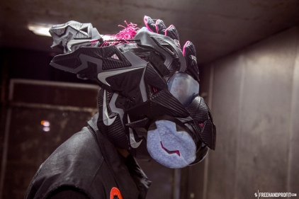 "Nike Lebron 11 (XI) ""Miami Nights"" Gas Mask by Freehand Profit"