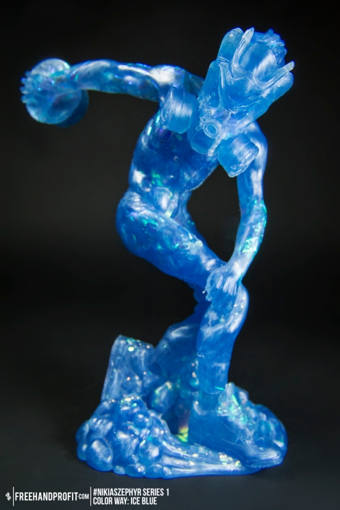 Ice Blue 01 Nikias Zephyr Freehand Profit Art Figure Series 1