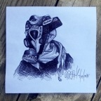 Daily Sketch: Black Cement 3 Gas Mask