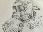 Daily Sketch: Nuetral Grey 13 Gas Mask