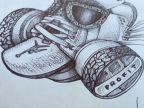 Daily Sketch: White Cement 3 Gas Mask